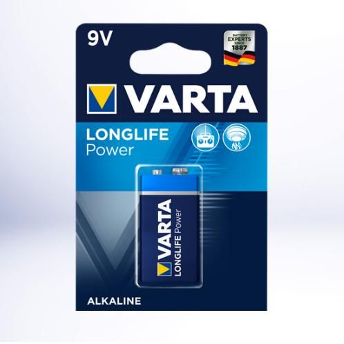 VARTA 4922 QUADRA 9V MN1604 - LONGLIFE POWER
